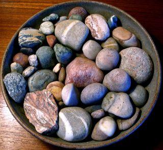 Bowl of stones